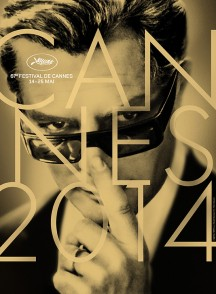"Official Film Fest poster of Italian actor Marcello Mastroianni in Fellini's film ""8 1/2"""
