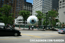 Giant Eyeball Sculpture at Pritzker Park