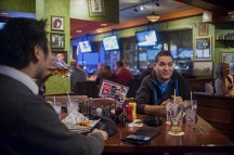 The Day Before: Jorge Mariscal has dinner at the Tilted Kilt in Schaumburg with two friends from middle school.