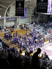 Northwestern upsets #12 Gophers, in front of very poor student showing