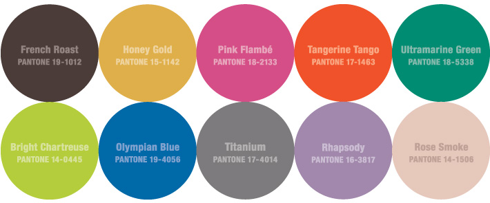 And the Colors for Fall 2012 Are...??