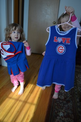 Bee & Buh-Stell acted like it was Christmas when they woke up. IT WAS BASEBALL DAY.