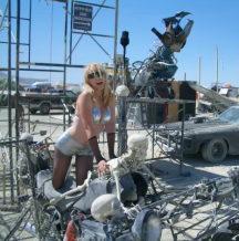 Before I met your dad, I cultivated broad interests to bring to my parenting arsenal. Here I am gaining life wisdom at Burning Man.