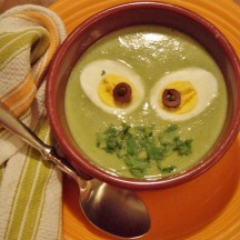 "The Wayback Machine: Swamp Monster Soup (Broccoli-Cheddar with Egg ""Eyeballs"")"