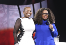 Iyanla Vanzant and Oprah Winfrey on the Life You Want Tour.