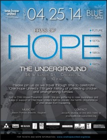 """Eras of Hope"" This Friday At Underground -  Celebrates Agency's 100+ Years of Fighting Child Abuse"