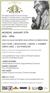 Chicago Craft Beer Events, January 27-30
