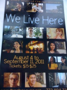 """We Live Here"" (Theatre Seven):  Writers Adapt to Chicago"
