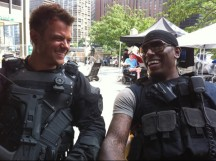 Tyrese tweets from the Transformers 3 set