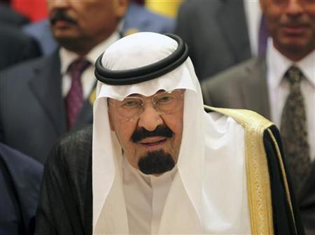 Saudi Arabia's King Abdullah arrives at the the opening ceremony of the OIC summit in Mecca