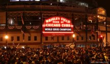 Cubs next year is finally here celebration in Wrigleyville - #ItsKindOfaBigDeal - Photos