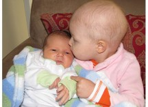 My newborn son and my daughter undergoing intense chemotherapy.