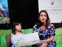 "Amelia made her stage debut ""helping"" me with the reading of ""A Very Quiet Cricket"" during a book drive benefiting Open Books. After that, we watched ""A Bear, A Moon and A Caterpillar"". Great show for toddlers who love Eric Carle books. At Victory Gardens Biograph through May 27th."
