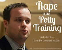Rape is Like Potty Training, and Other Lies from the Comment Section