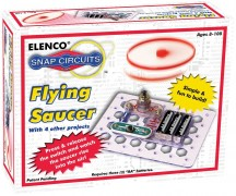 "<strong><a href=""http://www.amazon.com/Elenco-SCP-06-Circuits-Flying-Saucer/dp/B000FMLVMO/ref=pd_sim_t_7"" target=""_blank"">Snap Circuits Flying Saucer</a></strong> <br> This teaches some basic electronics and circuitry without any soldering. Reviewers say it assembles quickly and is a big hit. If you have a more advanced scientist, consider a larger, more involved kit, but for most tweens and teens just getting into this area and who do not appreciate delayed gratification, this is fast and fun. $12.05 on <a href=""http://www.amazon.com/Elenco-SCP-06-Circuits-Flying-Saucer/dp/B000FMLVMO/ref=pd_sim_t_7"" target=""_blank"">Amazon.com</a>."