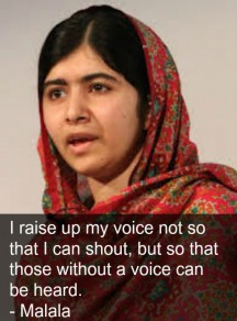 Memorable quotes by Malala Yousufzai, Nobel Peace Prize winner
