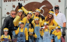 <strong>Minions</strong><br><br> Who doesn't love Gru's minions? You can buy minion costumes, or make your own with a yellow shirt, overalls, yellow hat and googles. Fun part about this is that your minion group can be as big or as small as you like.