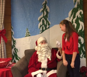 My version of a Chrismtas mircale: My tween decided to visit Santa after all
