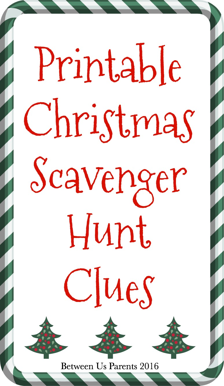 picture relating to Christmas Scavenger Hunt Printable Clues titled Printable Xmas Scavenger Hunt Clues, 2016 Version