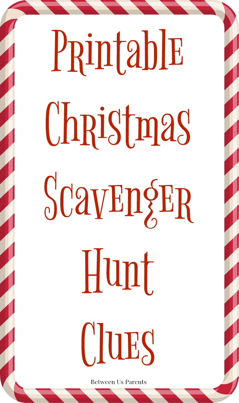 photo regarding Christmas Scavenger Hunt Printable Clues identified as Printable Xmas scavenger hunt clues for reward-locating
