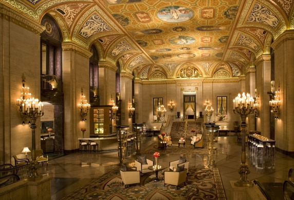 Have an Earth Hour cocktail in the lobby at the Palmer House Hilton among 1,200 flickering candles tomorrow night.