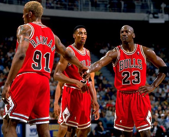 With Rodman and MJ