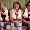 Ok, not a tattoo but you guys, it's a bunch of old Asian ladies with BOOB SCARVES!