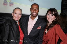 With fellow show hosts DC Crenshaw and Amanda Puck.