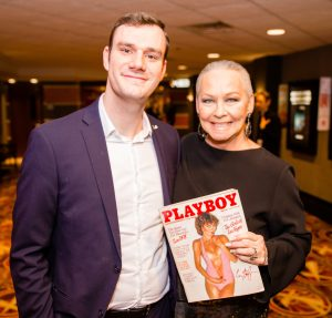 With Cooper Hefner at Chicago International Television Awards after he signed by Playboy cover. (Photo by Timothy M. Schmidt)
