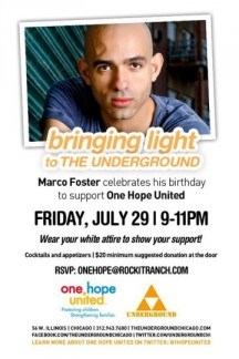 Celebrate CHI-lebrity Marco Foster's Birthday at The Underground!