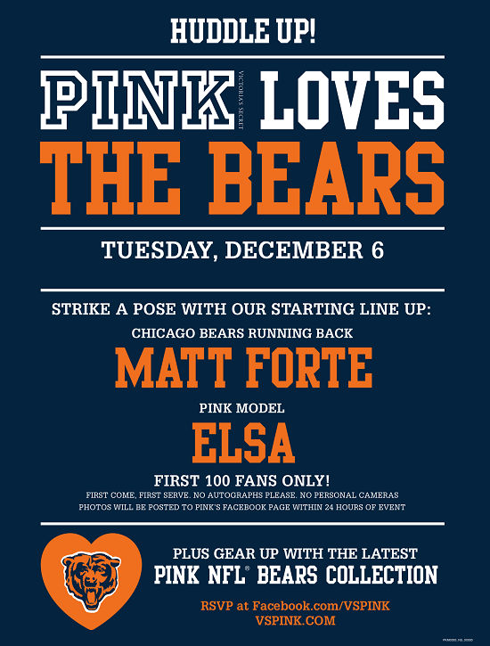 Meet Chicago Bear Matt Forte & Victoria's Secret PINK Model Elsa