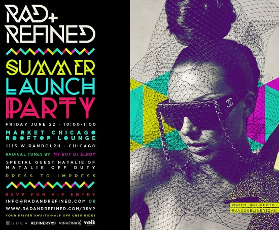 Rad and Refined Summer Launch Rooftop Party