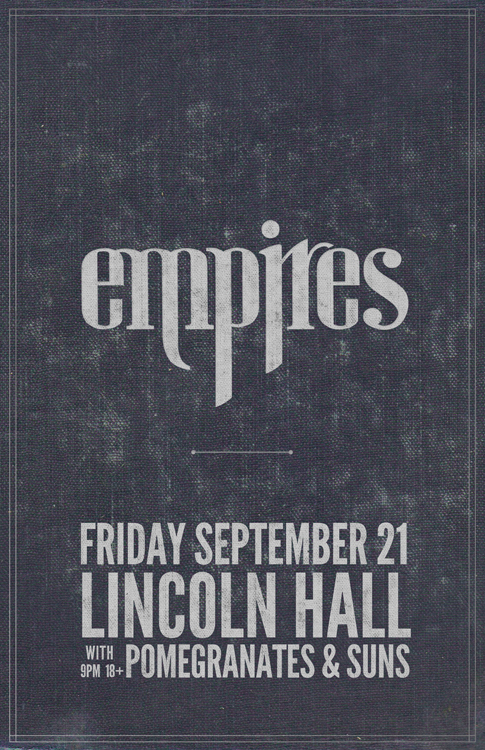 Interview:  A Q&A With Tom Conrad and Max Steger of Empires (A Lincoln Hall Concert Preview - Friday, 9/21/12 in Chicago)