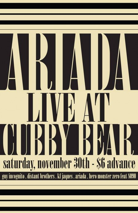 Concert Preview: Ariada Live at Cubby Bear - Saturday, November 30, 2013 (An Interview With Michael Tassone)
