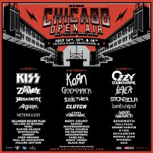 Concert Preview: Chicago Open Air 2017 (Ozzy Osbourne, KISS, Korn, Slayer, Rob Zombie and more - July 14-16 at Toyota Park in Bridgeview)
