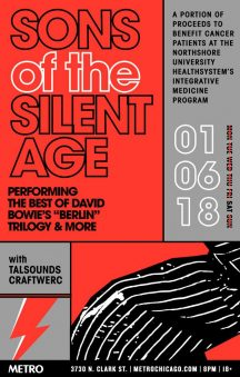 Q&A Interview With Chris Connelly - A Sons Of The Silent Age Concert Preview (Saturday, January 6, 2018 At Metro)