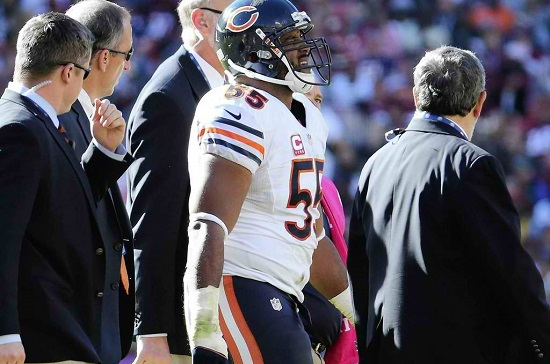 Chicago Bears' LB Lance Briggs out four to six weeks