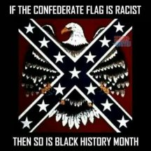 The Confederate flag is racist, Black History Month is not