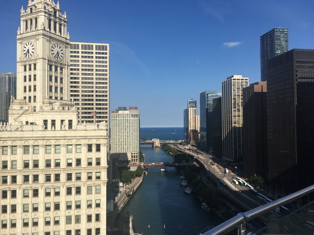 The Terrace rooftop: Al fresco dining with the best views in Chicago if you can afford it