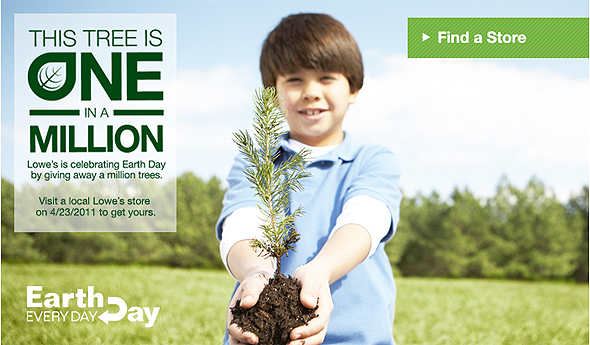 Free Trees for Earth Day at Lowe's