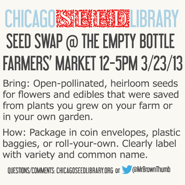 Seed Swaps around Chicago March 2013
