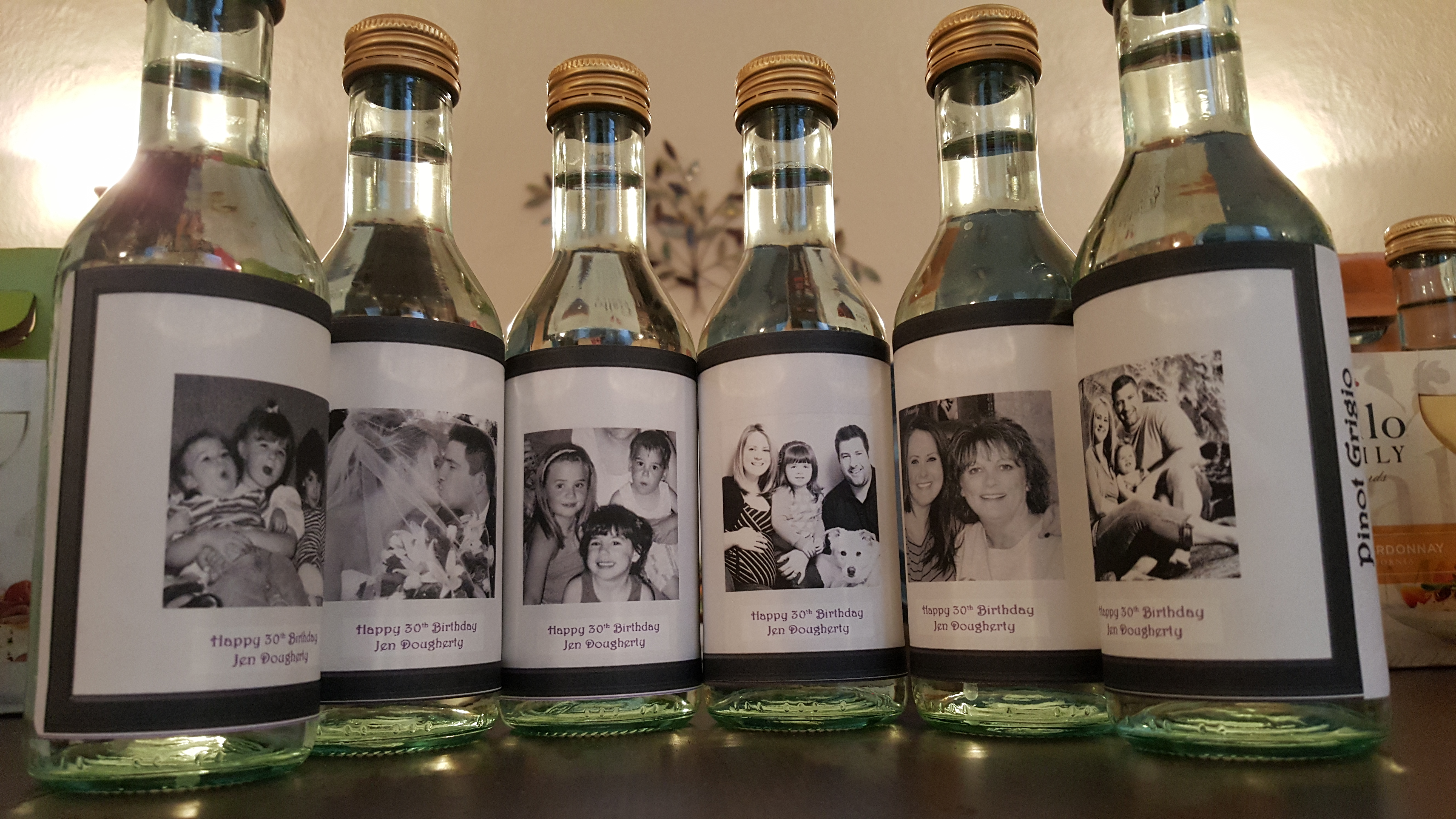 Personalized mini wine bottles a perfect favor for any for What to do with a wine bottle
