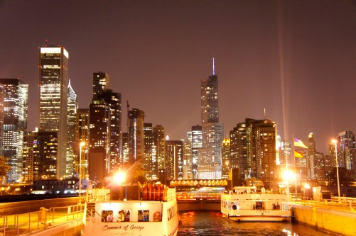 Chicago From A Boat XVIII