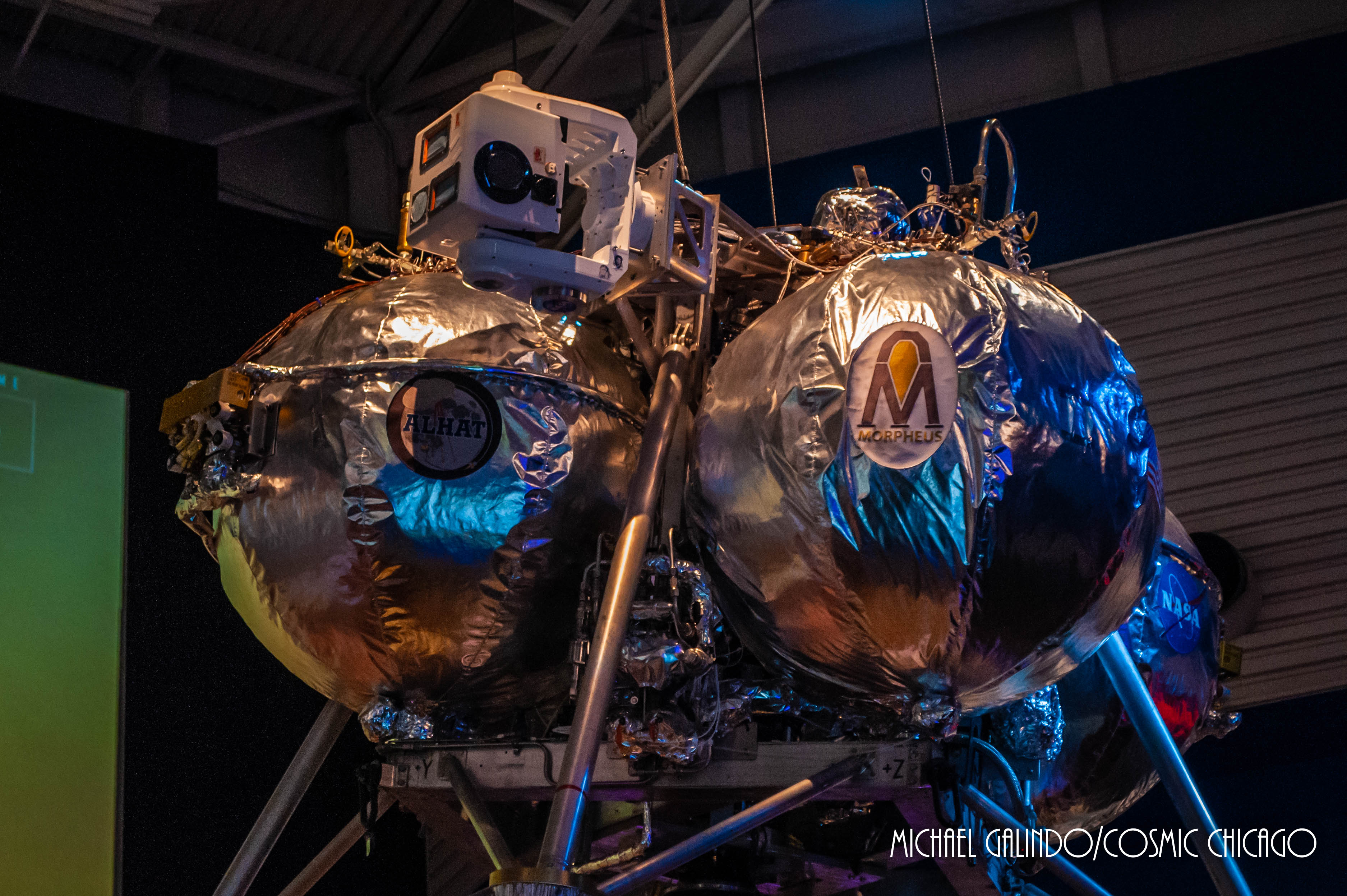 The NASA's Morpheus robotic lander on display at Space Center Houston