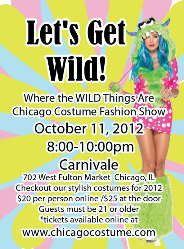 Where the WILD Things Are Chicago Costume Fashion Show on October 11th!