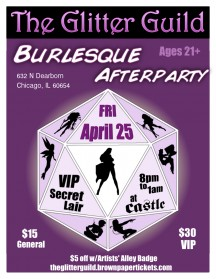 Glitter Guild Storms Castle Chicago For Burlesque Afterparty