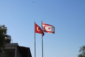 The Turkish and Turkish Republic of Cyprus flags