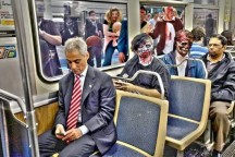 "The mayor showed he can have some fun by releasing this photo of him ""with zombies."" (Photo from Chicago Mayor's Office)"