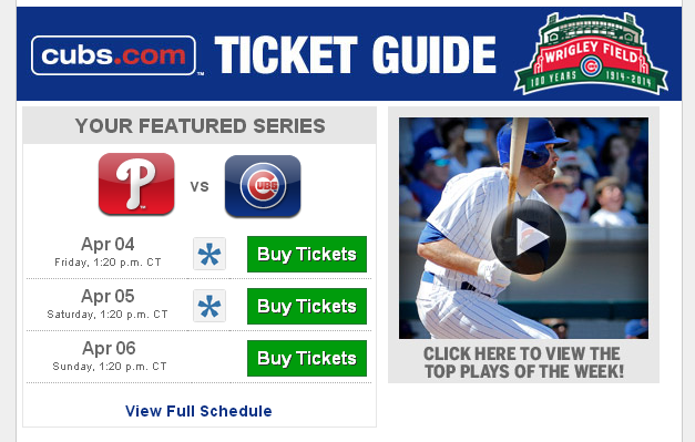 Cubs In Haiku: Opening Day Tickets Are Still Available