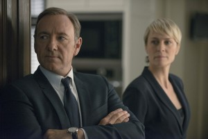 Kevin Spacey and Robin Wright as Frank and Claire Underwood.